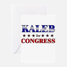 KALEB for congress Greeting Card