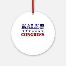 KALEB for congress Ornament (Round)