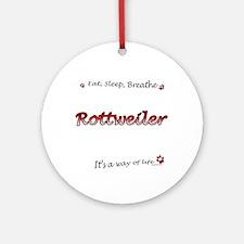 Rottweiler Breathe Ornament (Round)