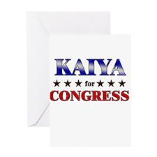 KAIYA for congress Greeting Card