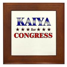 KAIYA for congress Framed Tile