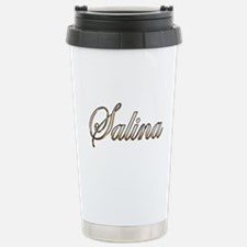 Gold Salina Stainless Steel Travel Mug