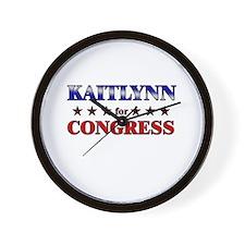 KAITLYNN for congress Wall Clock