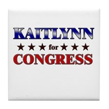 KAITLYNN for congress Tile Coaster