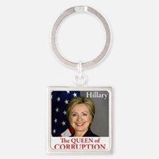 HILLARY THE QUEEN Square Keychain