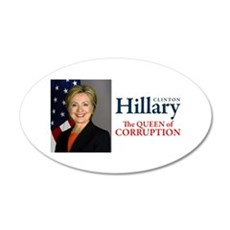 HILLARY THE QUEEN Wall Decal