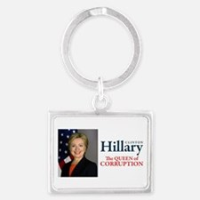 HILLARY THE QUEEN Landscape Keychain