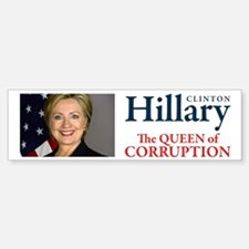 HILLARY THE QUEEN Bumper Bumper Sticker