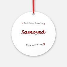 Samoyed Breathe Ornament (Round)