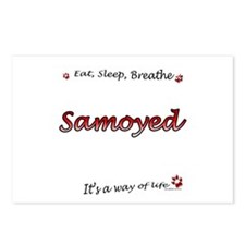 Samoyed Breathe Postcards (Package of 8)
