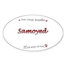 Samoyed Breathe Oval Decal