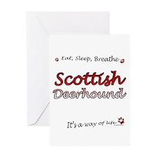 Deerhound Breathe Greeting Card