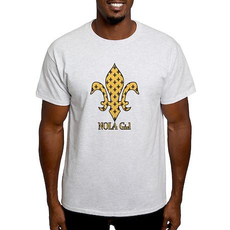 NOLA Girl Fleur de lis (gold) Light T-Shirt