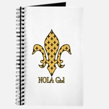 NOLA Girl Fleur de lis (gold) Journal