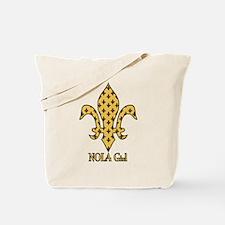 NOLA Girl Fleur de lis (gold) Tote Bag