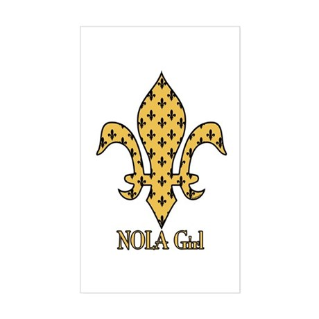 NOLA Girl Fleur de lis (gold) Sticker (Rectangular