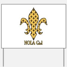 NOLA Girl Fleur de lis (gold) Yard Sign