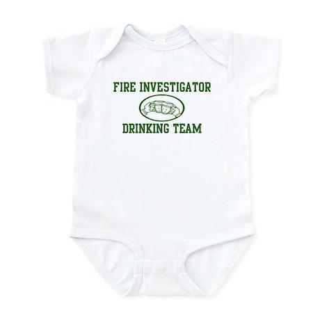 Fire Investigator Drinking Te Infant Bodysuit