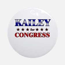 KAILEY for congress Ornament (Round)