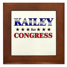 KAILEY for congress Framed Tile