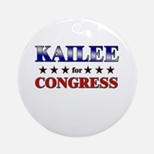 KAILEE for congress Ornament (Round)
