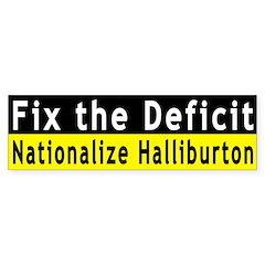 Fix the Deficit (bumper sticker)