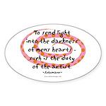 Duty of the Artist Oval Sticker