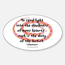Duty of the Artist Oval Decal