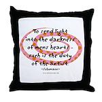 Duty of the Artist Throw Pillow