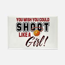 Basketball - Shoot Like a Girl Rectangle Magnet