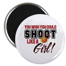Basketball - Shoot Like a Girl Magnet