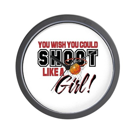 Basketball - Shoot Like a Girl Wall Clock