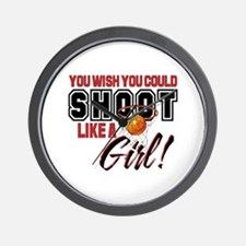 Basketball - Shoot Like a Girl Wall Clock