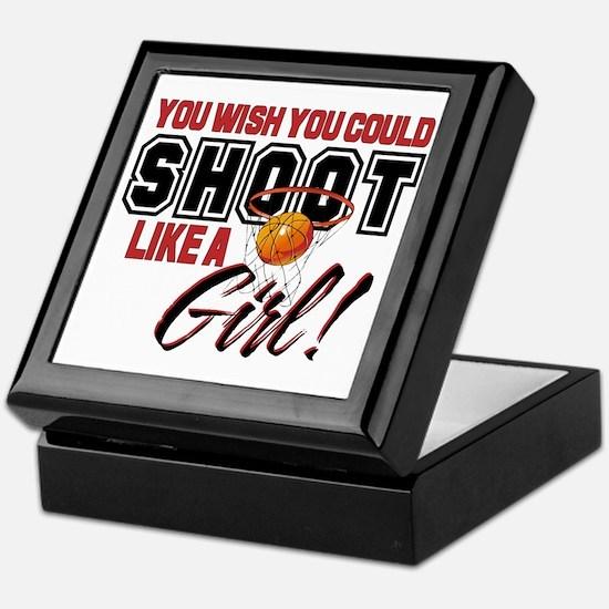 Basketball - Shoot Like a Girl Keepsake Box