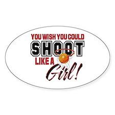Basketball - Shoot Like a Girl Decal