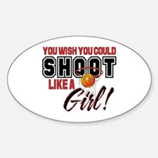 Basketball - Shoot Like a Girl Decal