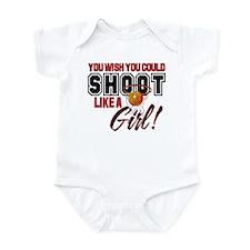 Basketball - Shoot Like a Girl Infant Bodysuit