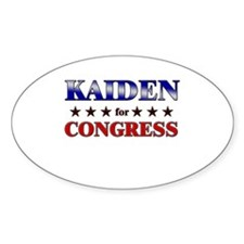 KAIDEN for congress Oval Decal