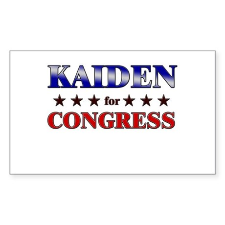 KAIDEN for congress Rectangle Sticker