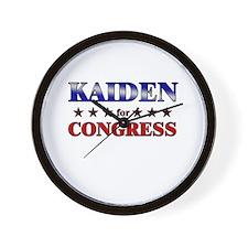 KAIDEN for congress Wall Clock