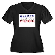 KAIDEN for congress Women's Plus Size V-Neck Dark