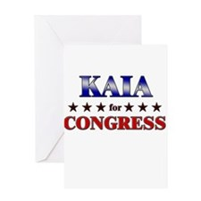 KAIA for congress Greeting Card