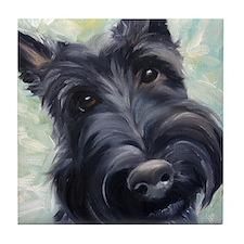 Scottish Terrier Scottie DOG Tile Coaster