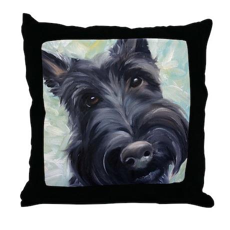 Scottie DOG Throw Pillow by marysparrow