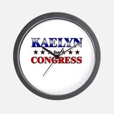 KAELYN for congress Wall Clock