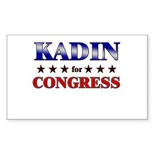 KADIN for congress Rectangle Decal