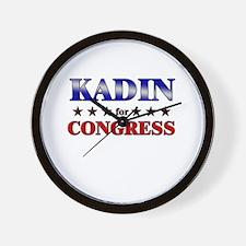 KADIN for congress Wall Clock