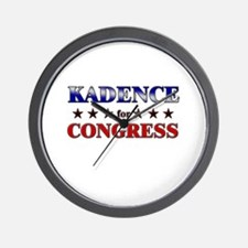 KADENCE for congress Wall Clock