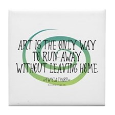 Run Away Artist Tile Coaster