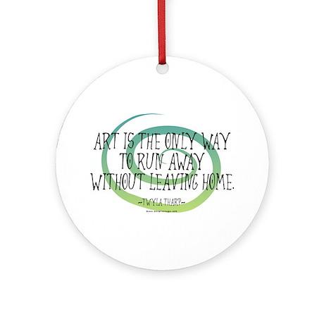 Run Away Artist Ornament (Round)